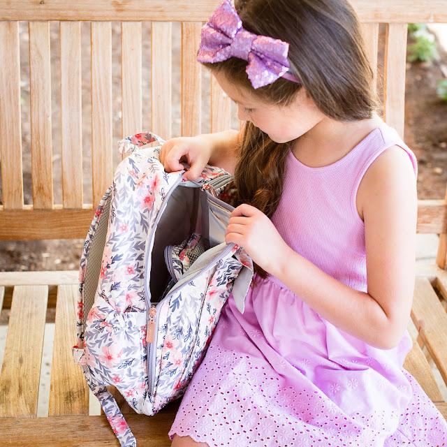old navy purple dress sparkle head band with ju ju be mini backpack