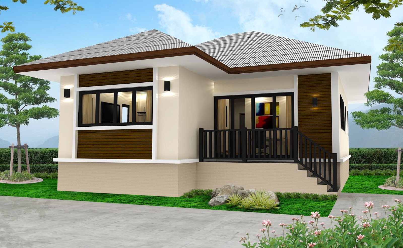 A bungalow house design is one of the most common built houses today. The main benefit of bungalows is to have your living space all on one storey. If you are looking for a house design check out some of these 50 photos of bungalow house design and find the perfect home for your family.