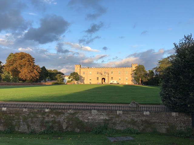 Syon House in the late evening sun