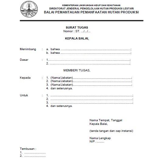 Tata Naskah Dinas Kementerian Lingkungan Hidup Dan Kehutanan