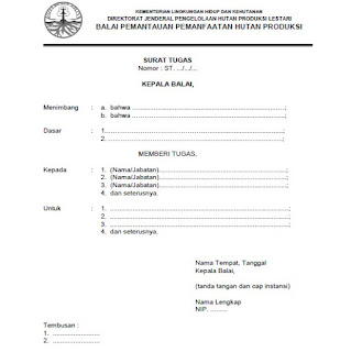 tata naskah dinas kementerian lingkungan hidup dan kehutanan terbaru