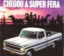 Propaganda do Ford F-100. Campanha de lançamento em 1980.