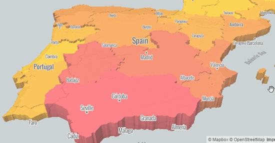 Mapa del Paro en España