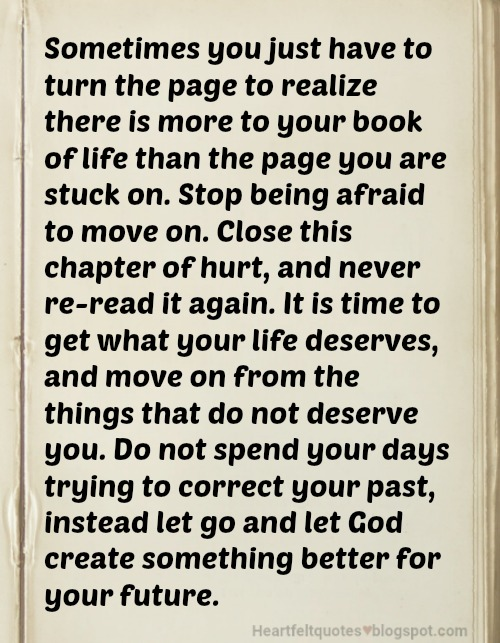 Sometimes you just have to turn the page   Heartfelt Love ...