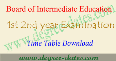 AP Inter time table 2018 pdf bieap 1st 2nd year exam schedule
