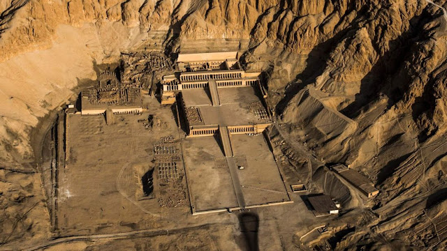 The Temple of Hatshepsut, also known as the Djeser-Djeseru ('Holy of Holies') in the Egyptian town of Luxor