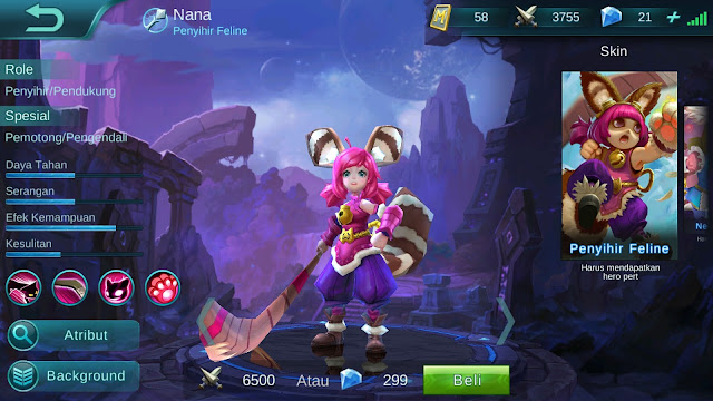 Mobile Legends : Hero Nana ( Penyihir Feline ) High AP Build/ Set up Gear