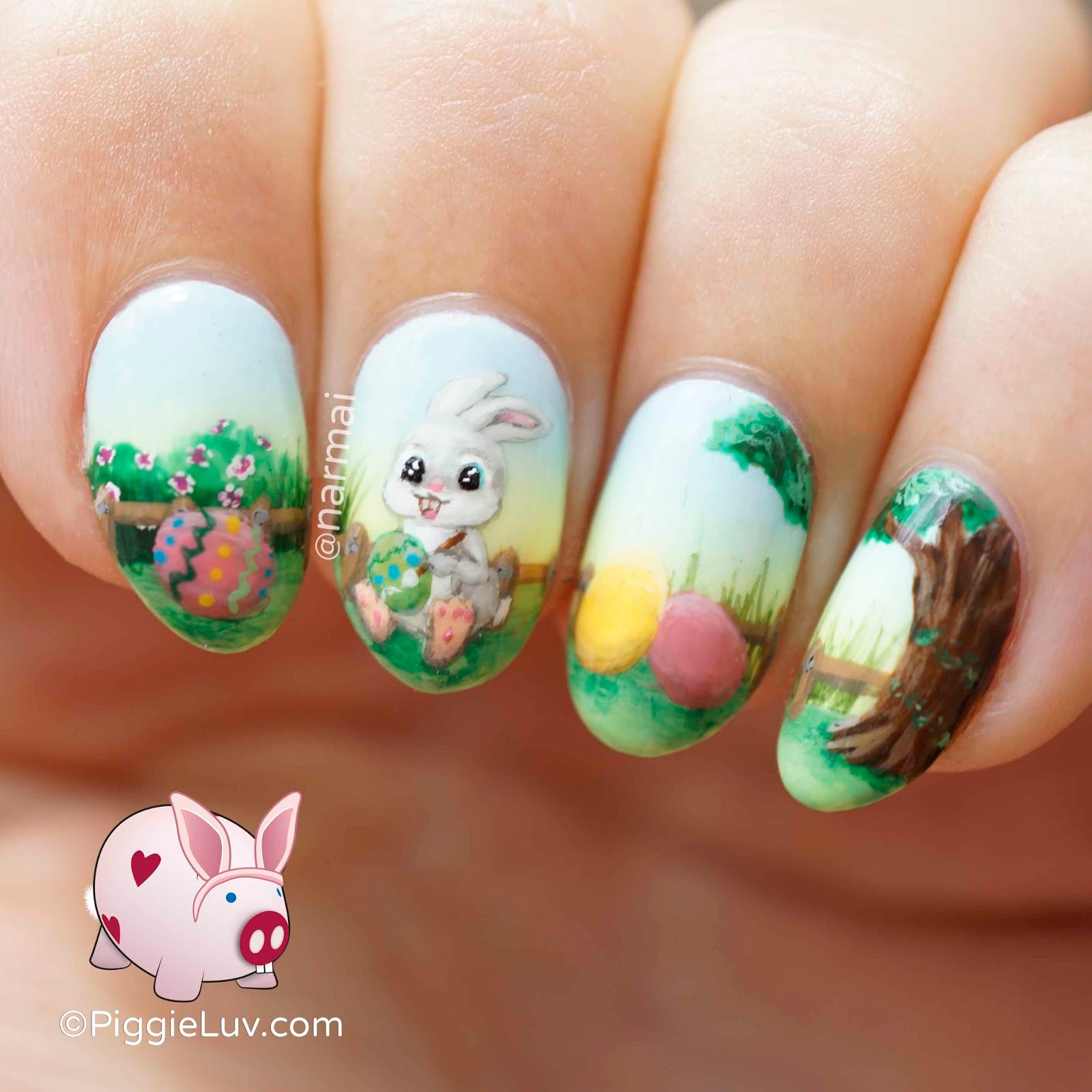 Painting Easter Eggs Nail Art