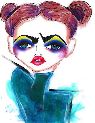 Bebee Pino illustration of a girl