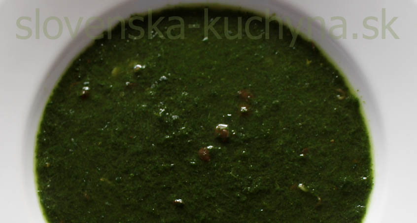 Zelená polievka s krodónom