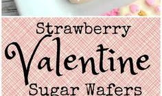 STRAWBERRY VALENTINE SUGAR WAFERS