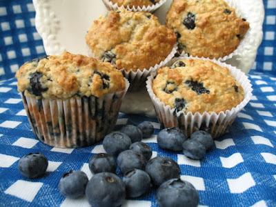 Blueberry Oatmeal Greek Yogurt Muffins