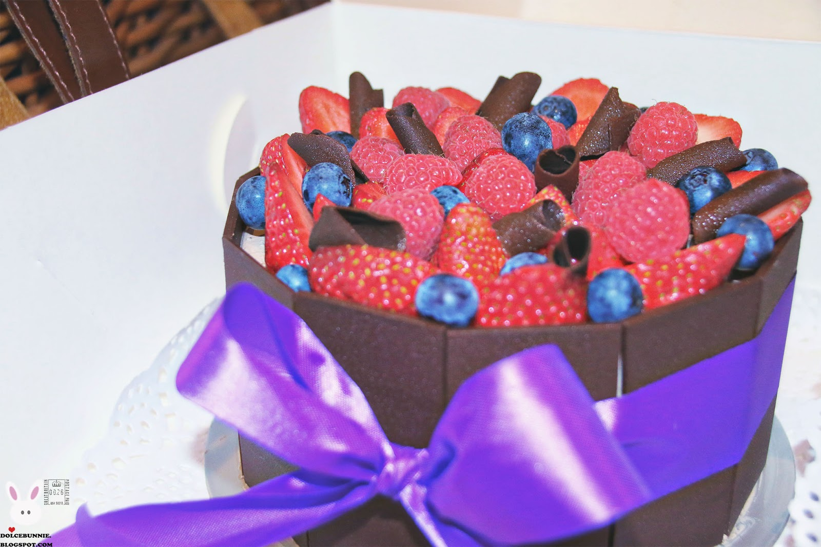 Michel's patisserie chocolate gateau
