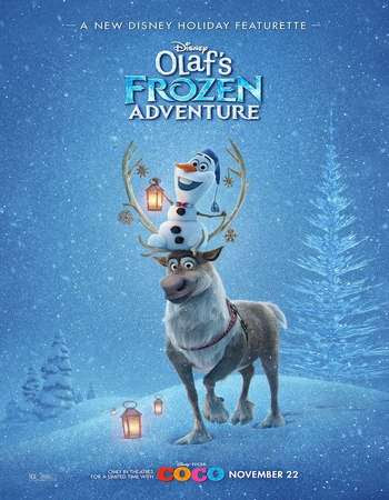 Poster Of Free Download Olaf's Frozen Adventure 2017 300MB Full Movie Hindi Dubbed 720P Bluray HD HEVC Small Size Pc Movie Only At worldfree4u.com