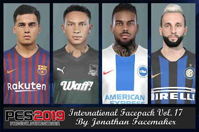 PES 2019 Facepack International vol 17 by Jonathan Facemaker