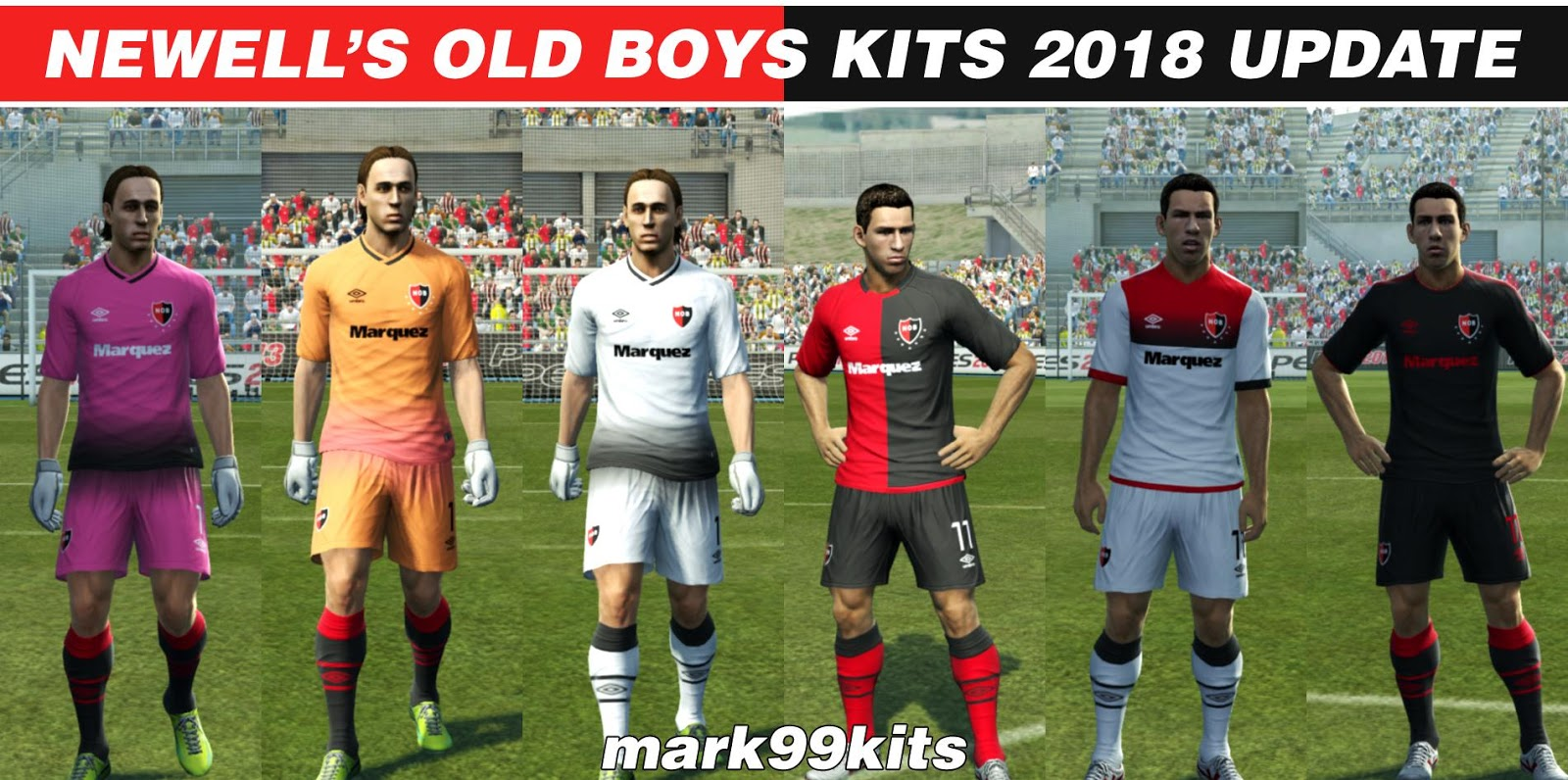 PES 2013 Newell's Old Boys Kits 2018 Update by mark99kits