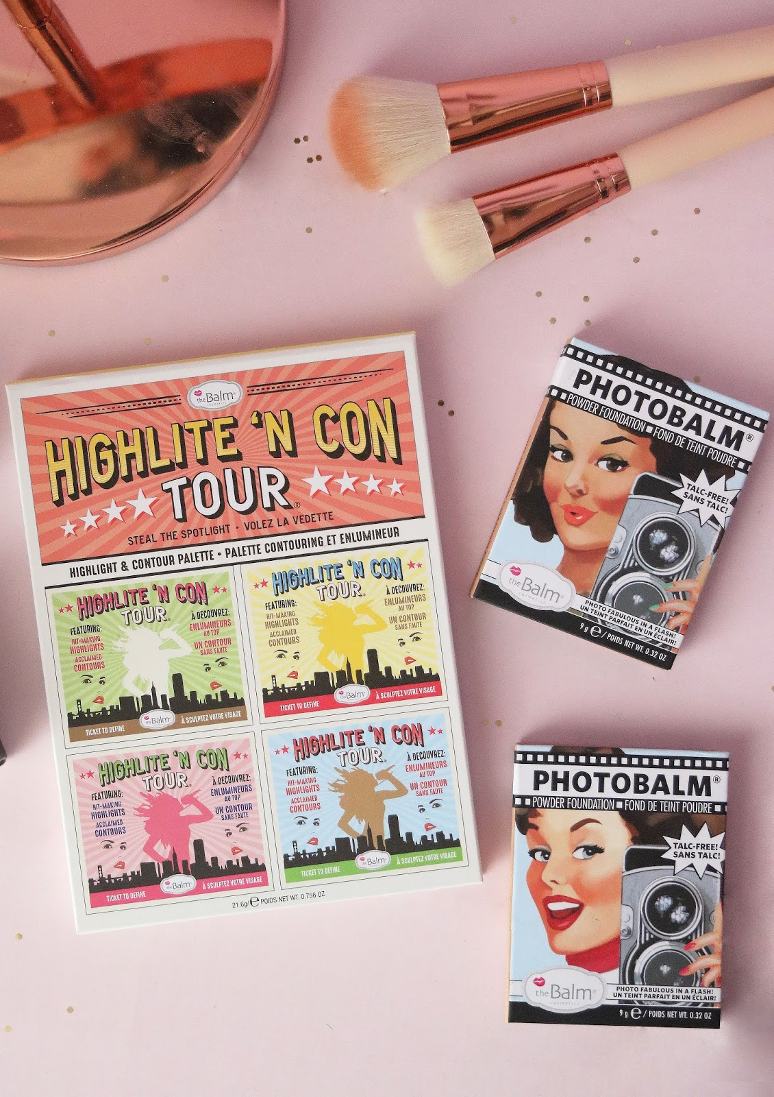 The Balm , Higlight 'N Con Tour , Photobalm , revue , avis , swatch , blog beauté , blog beauté paris , rosemademoiselle , rose mademoiselle , Mary-Lou , Palette Contouring,