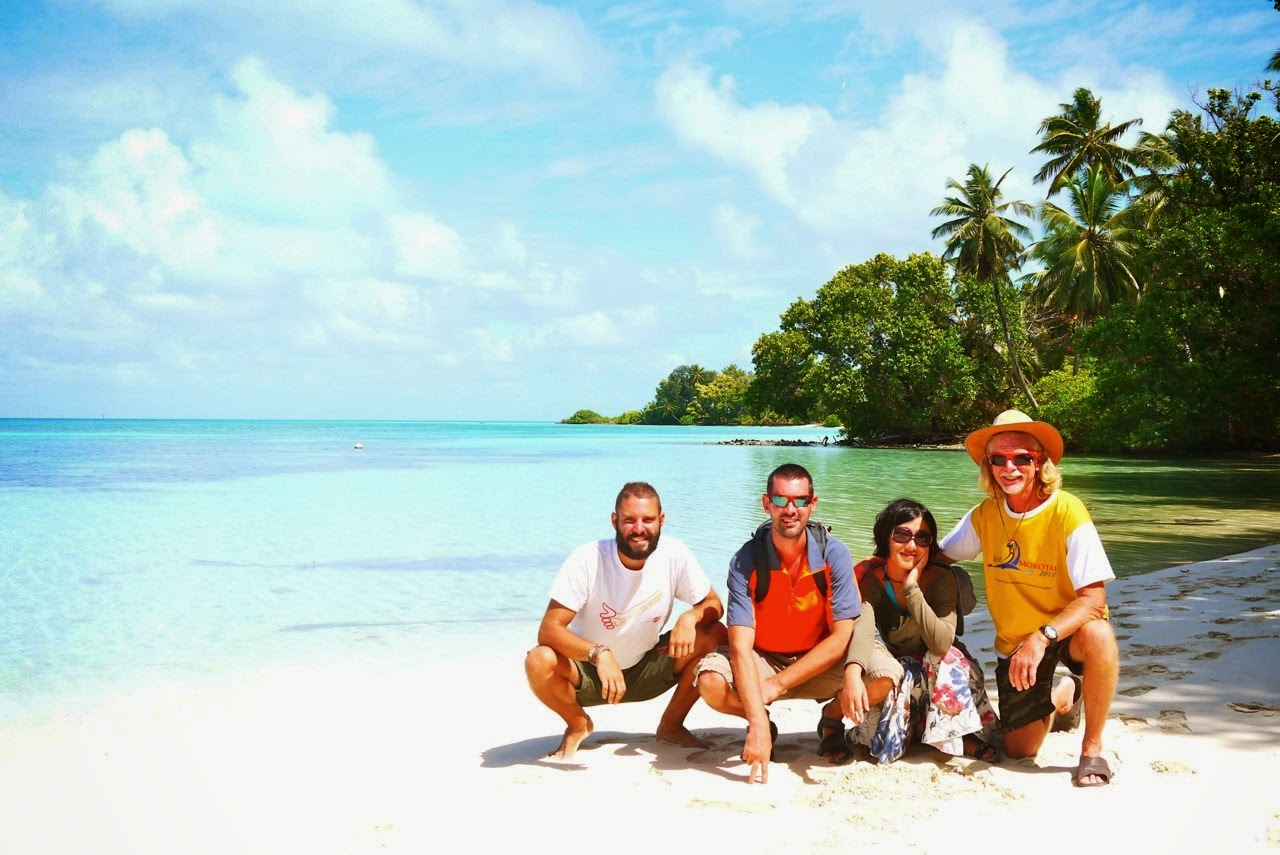 The crew takes a break on the Cocos Islands. - '1,000 Days of Summer': An Ex-Stock Broker Travels Around the World on $10 a Day