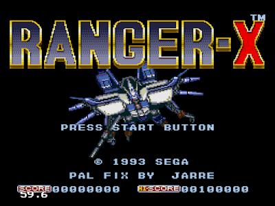 【MD】鳥人戰機(Ex-Ranza)原版+Hack無敵版,Sega飛機射擊遊戲!