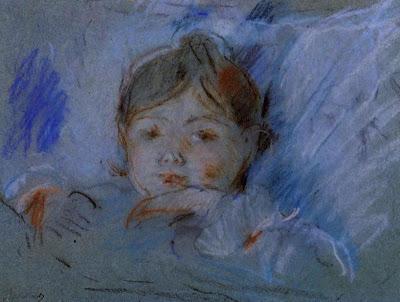 """Берта Моризо """"Ребенок в кровати"""", 1884 г."""
