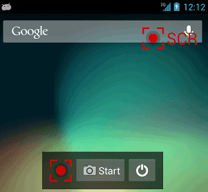 SCR Screen Recorder app Android