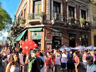 Sunday San Telmo Antique Market Plaza Dorrego Buenos Aires argentina