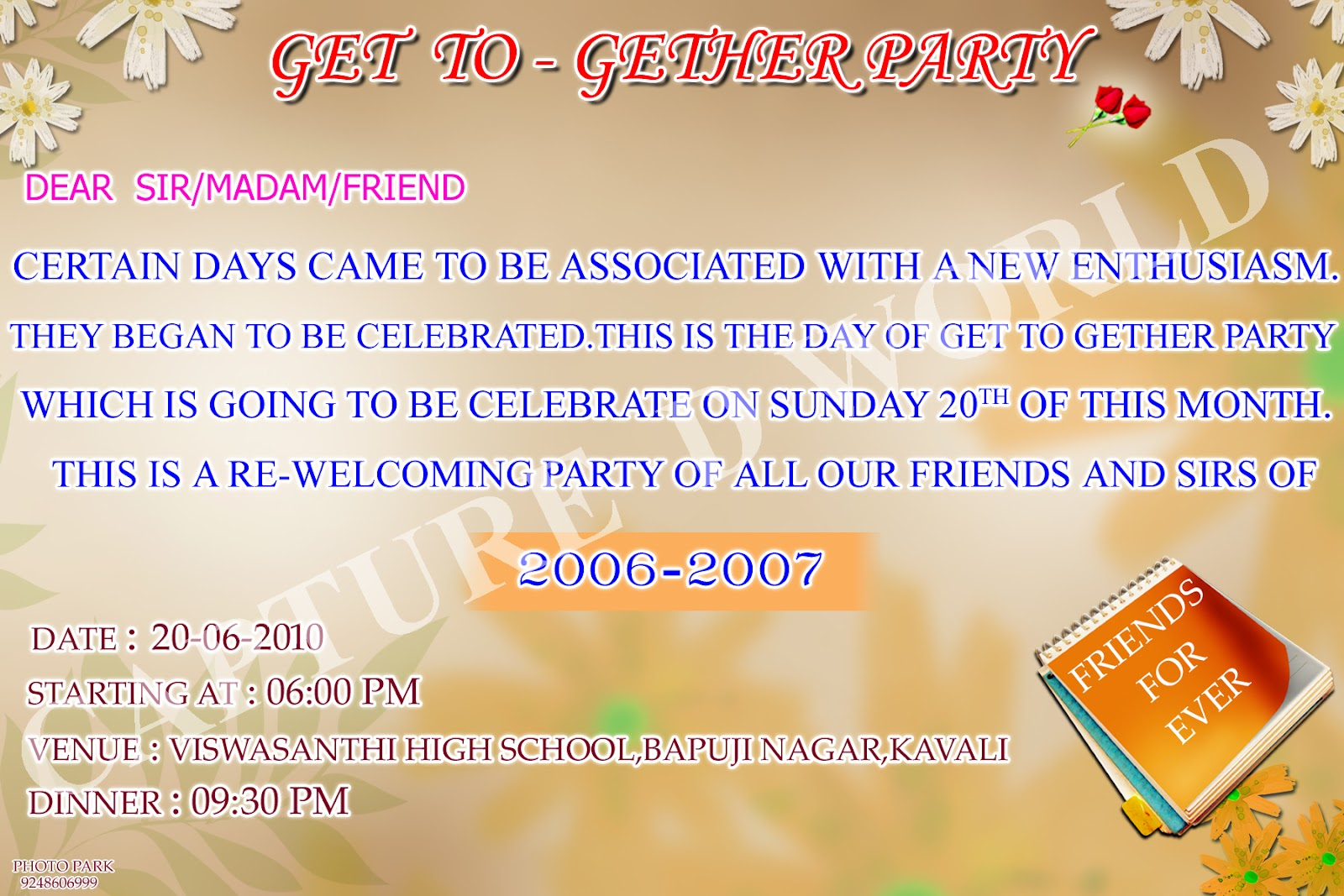 Invitation ...