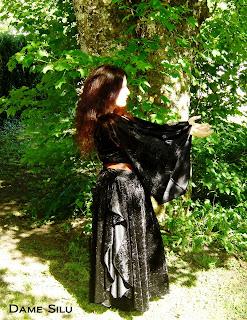 robe de sorcière, panne de velours