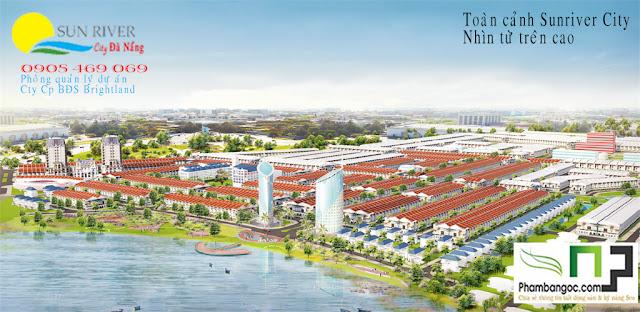 Phối cảnh tổng quan dự án Sunriver City từ trên cao