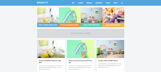 Graivity Blogger Template Blue