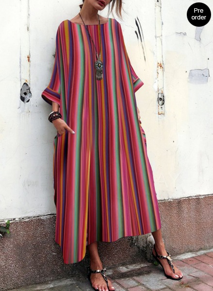 348ed26679c https   www.fashionmia.com Products bohemian-striped-bell-sleeve-maxi-dress -215650.html
