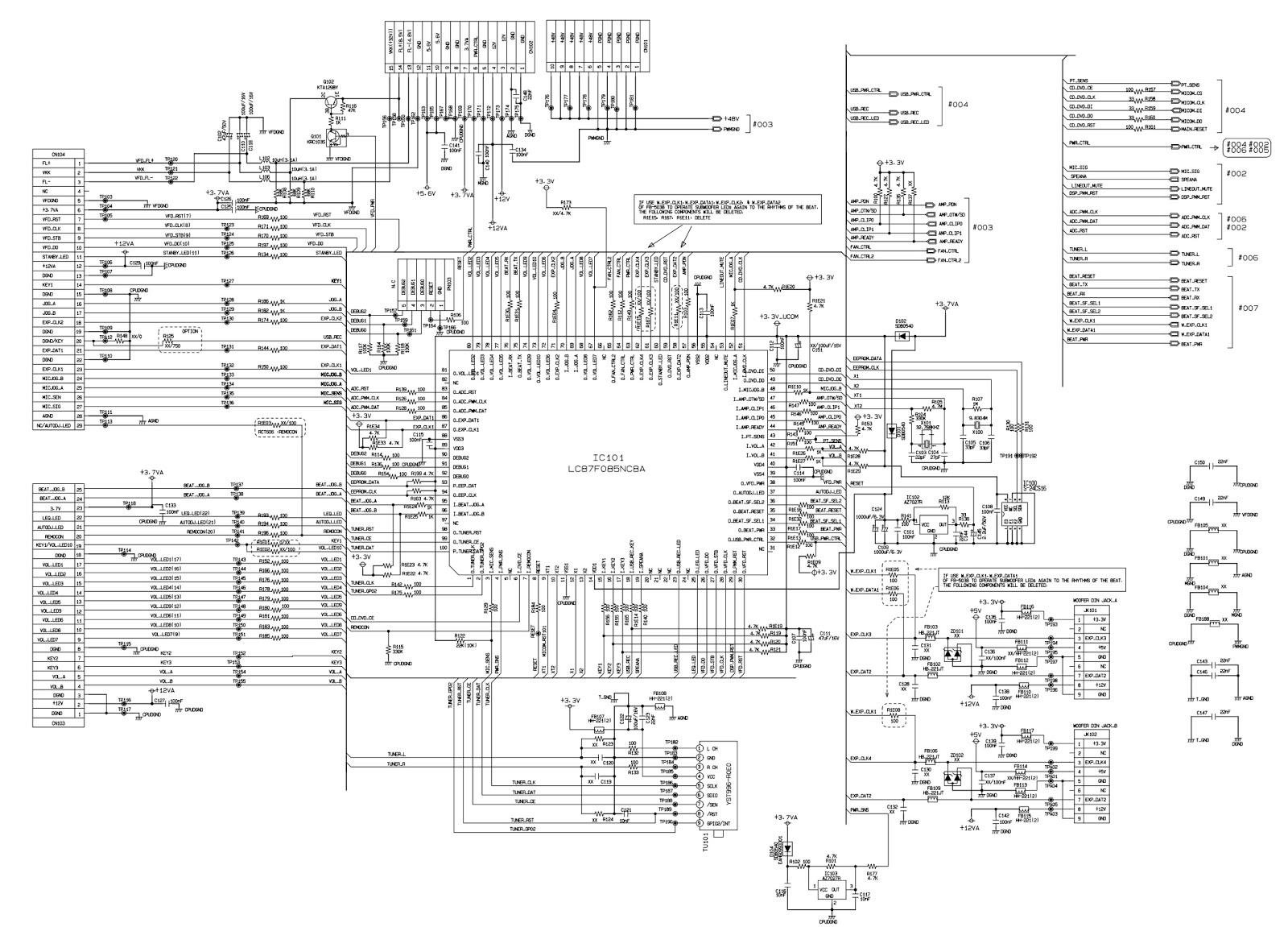LG CM6520 Mini Hi-Fi System – Schematic
