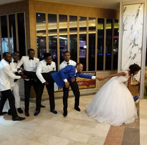 Aww! Check out this creative wedding photo