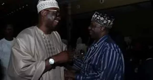 Hmm! Fayose and Amaechi pictured laughing out together