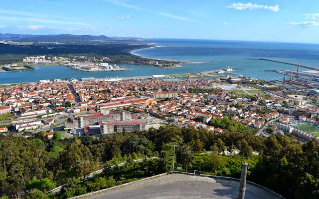 Viana do Castelo - vista do Monte Santa Luzia