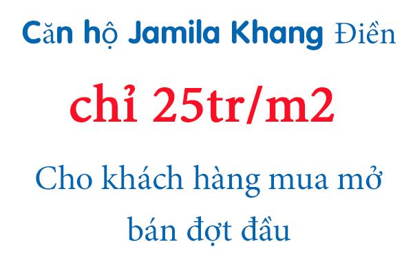 Giá bán căn hộ Jamila Khang Điền