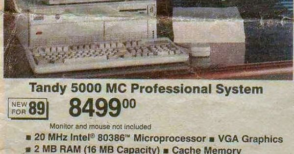 Wow, 20 MHz processor and 2MB of RAM for only $8499, what a steal!