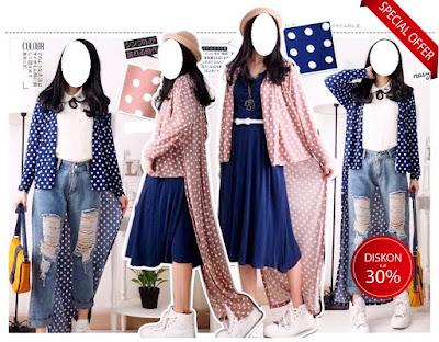 kardigan panjang long cardigan baju impor korea murah stylish 2017