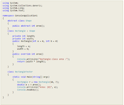 Example Project Abstract Class in Polymorphism