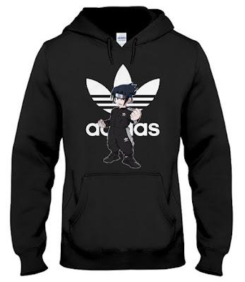 naruto adidas hoodie, naruto adidas sweatshirt