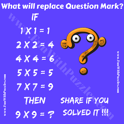 It is very interesting Mathematics Puzzle in which your challenge is to find the missing number which will replace the question mark