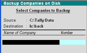 how to backup tally