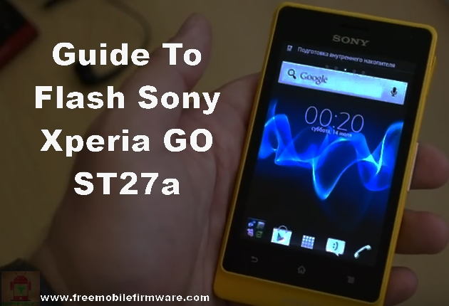 Sony Xperia GO ST27a Jelly Bean 4.1.2 Tested Firmware