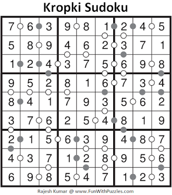 Kropki Sudoku (Fun With Sudoku #133) Solution