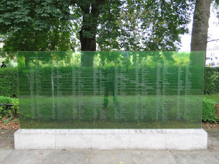 Glass screens attached to Southampton Cenotaph
