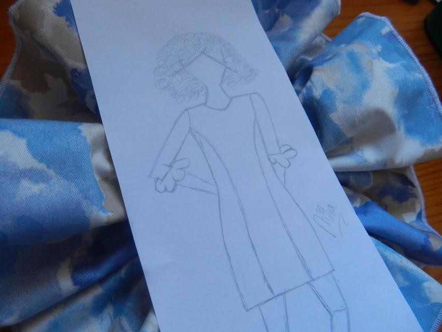 DIY, vestido, volantes, flores, recto, costura, mujer