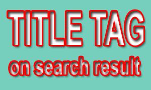 Jumlah Karakter Title Tag Postingan