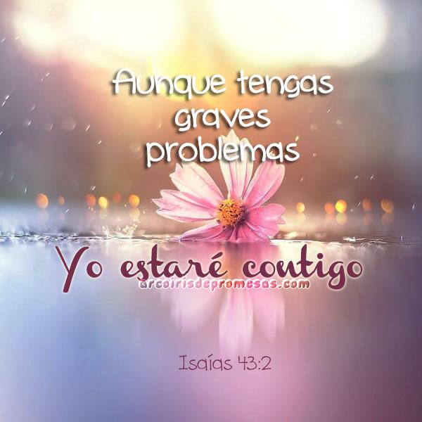 yo estaré contigo mensajes cristianos de aliento con imágenes arcoiris de promesas