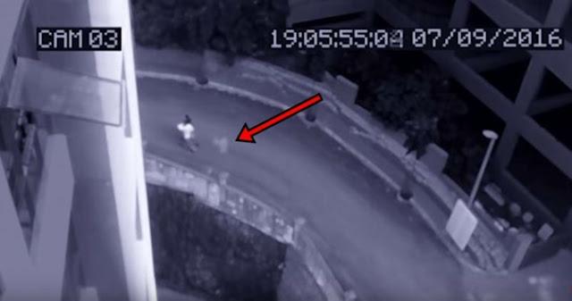 Ngeri! Asik Jalan Jalan Dua Pria Ini Terekam Kamera Sedang Diikuti Makhluk Gaib