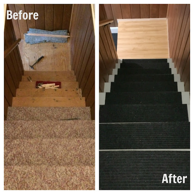 Do you have stairs that are covered in dirty, ugly carpet? Transform them with paint using this tutorial.